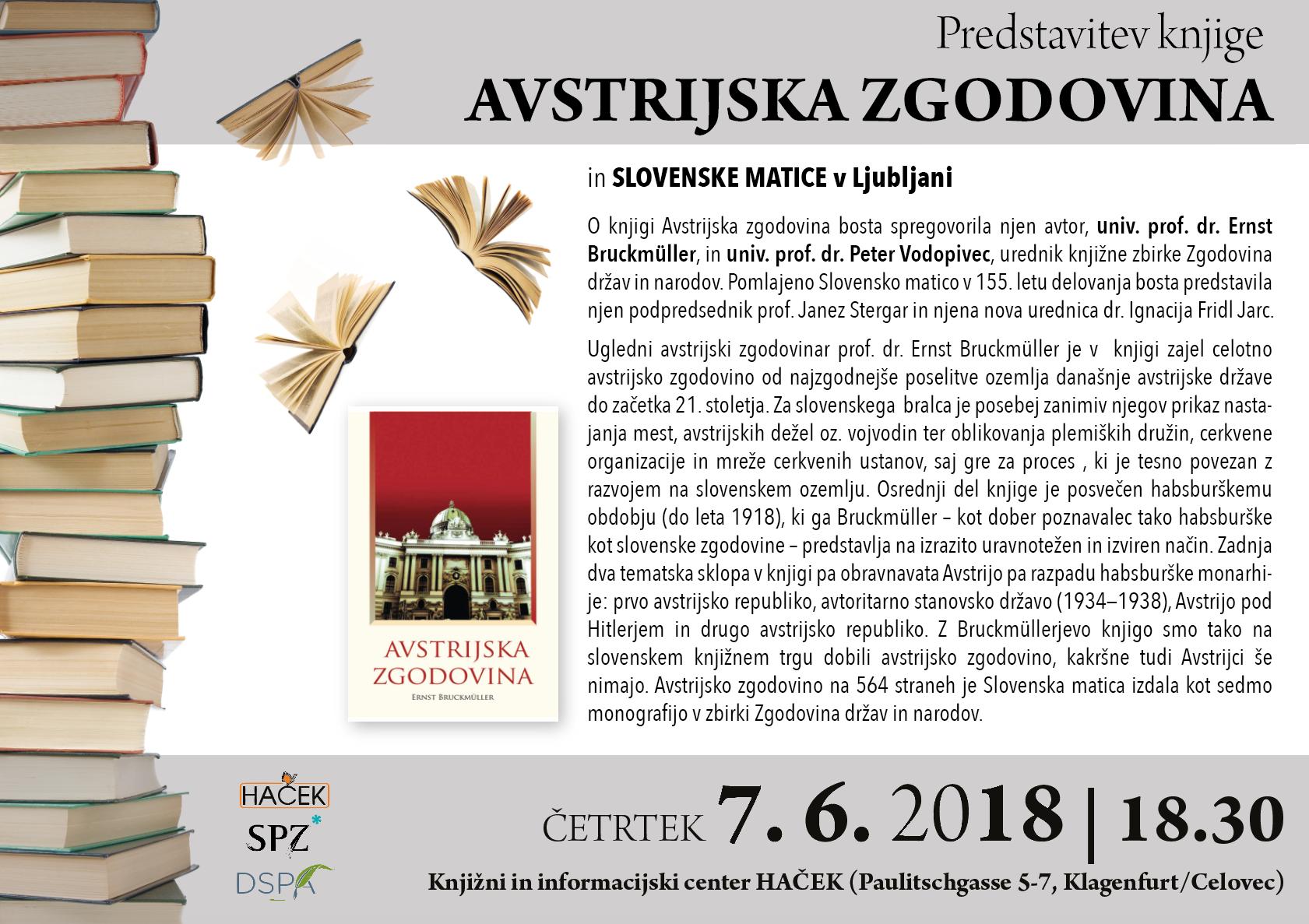 Predstavitev knjige Avstrijska zgodovina in Slovenske matice